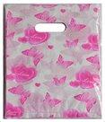 Plastic-cadeau-tasjes-25x20-vlinders-roze-(100-stuks)