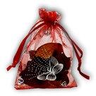Organza-zakjes-rood-met-vlinders-11x16-cm-100-stuks-cadeauzakjes