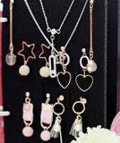 Boekje voor sieraden opbergen - print grijs_