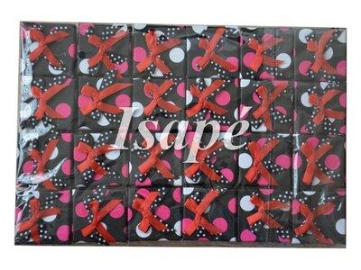 Verpakkingsdoosjes ring met roze stippen