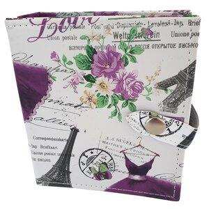 sieradenboekje paars print