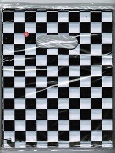 Tasjes 25x20 (100 stuks) zwart / wit geblokt