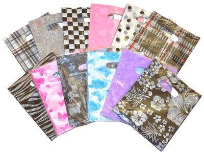 Mix Plastic Tasjes 25x20 cm / cadeautasjes