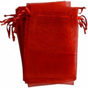 Organza zakjes - rood 10x15 cm -100 stuks / cadeauzakjes