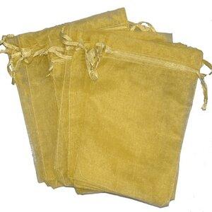Organza zakjes 10x15 cm goud - 100 stuks / cadeauzakjes
